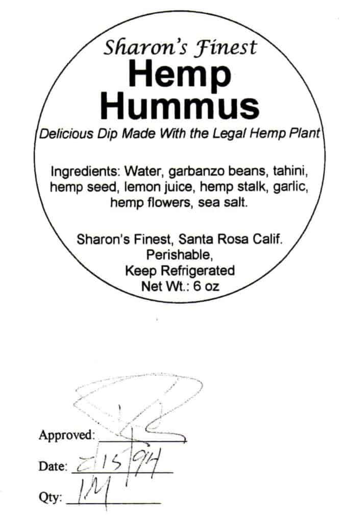 Hemp Hummus Label