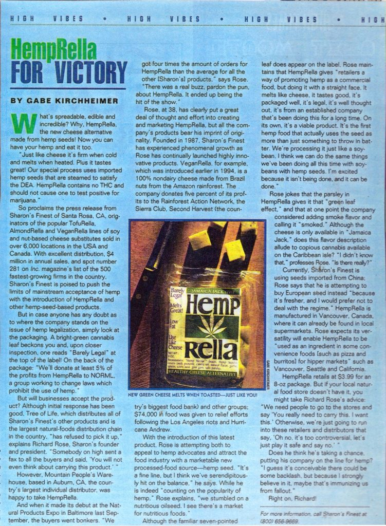 1995 HempRella For Victory