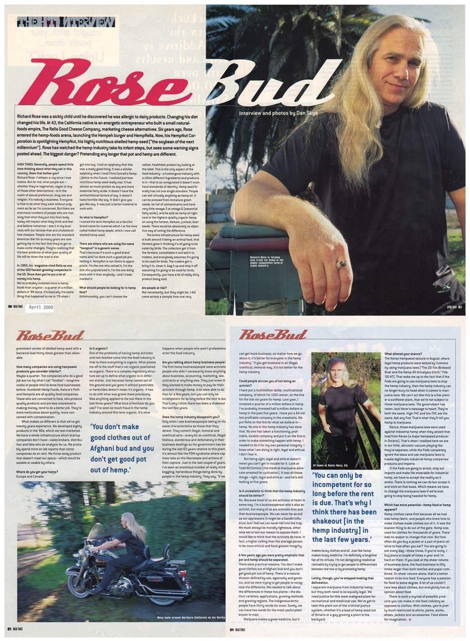 2000: Rosebud (High Times Interview)