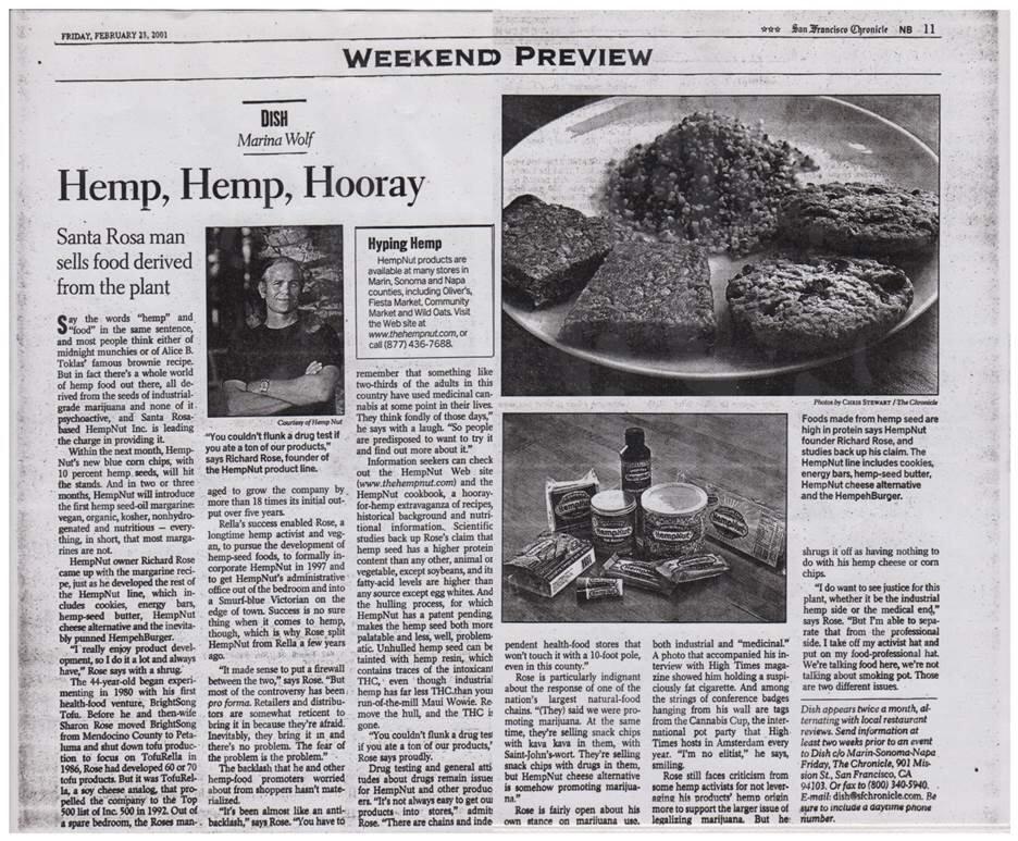 2001: Hemp, Hemp, Hooray