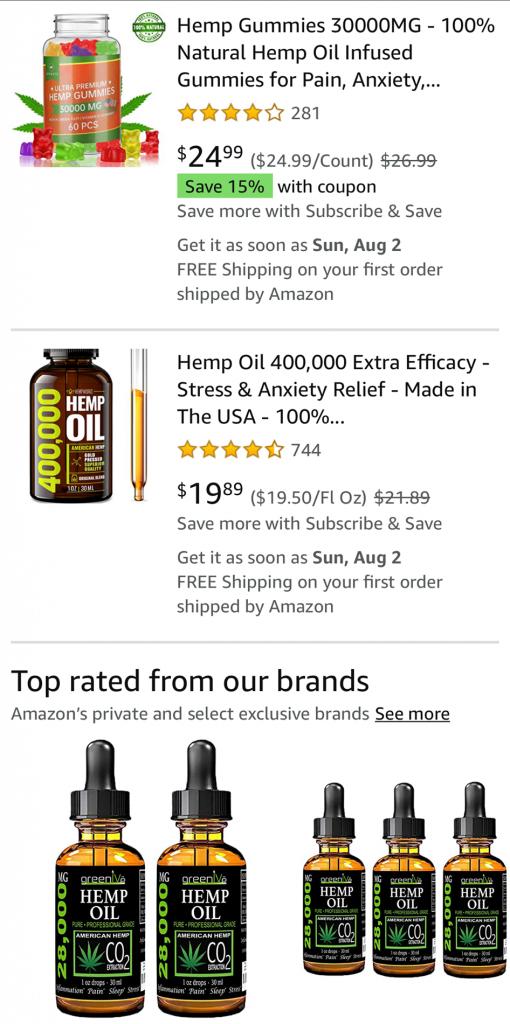 Amazon: Largest CBD Retailer or Just One Big Fraud?