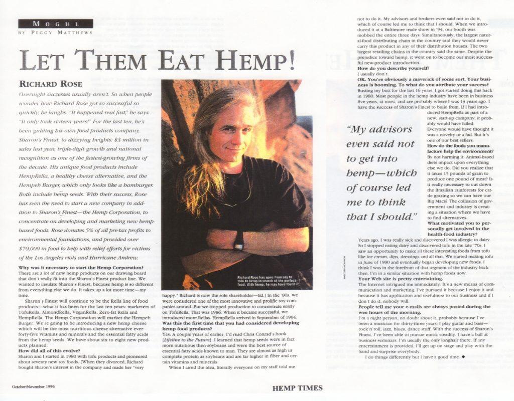 1996: Let Them Eat Hemp