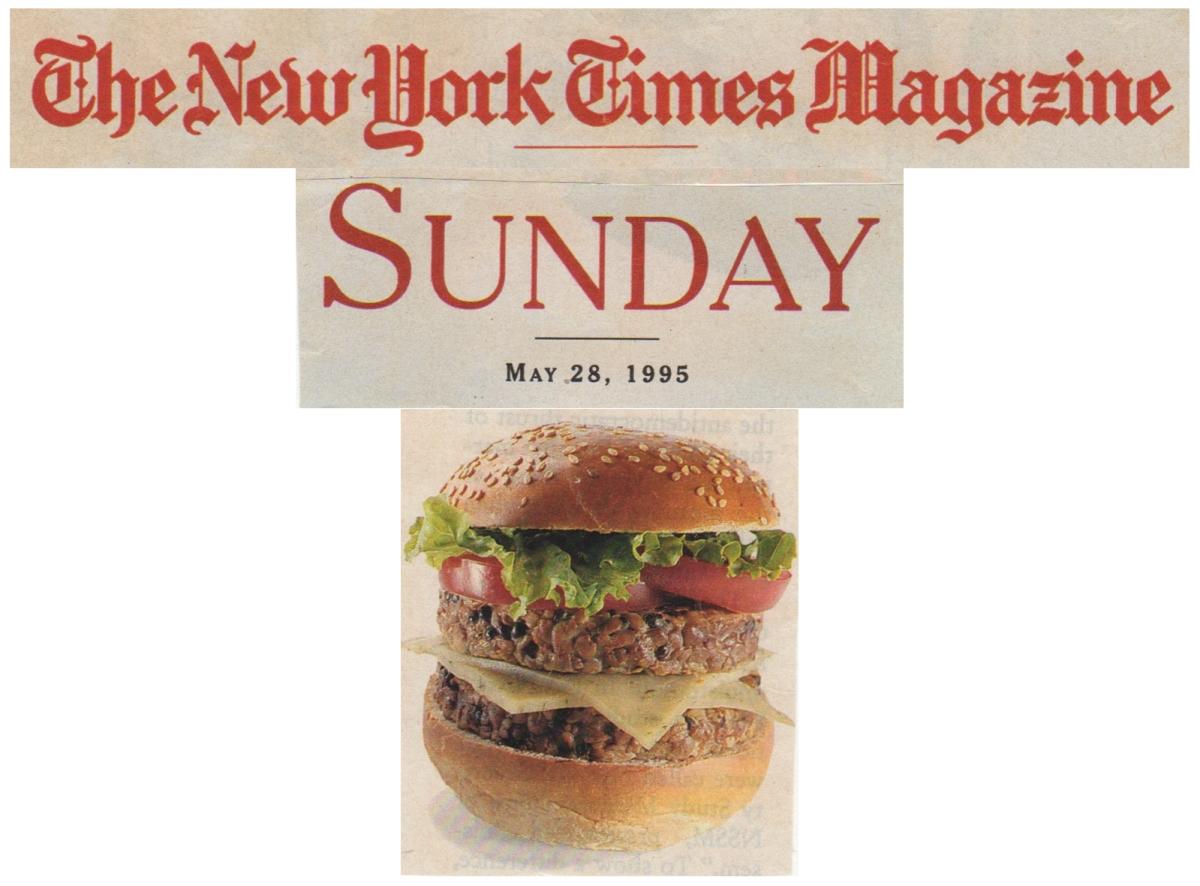 1995: Healthy Hemp Burgers in the NY Times