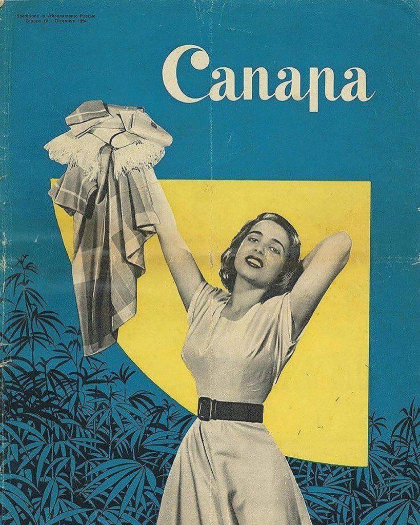 1954: Cover of Canapa [Hemp] magazine, Italy